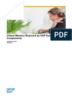 Virtual Memory Required by SAP System Components