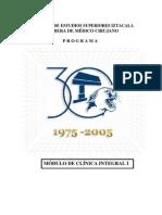 Temario Clínica Integra I FES  Iztacala UNAM