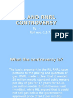 RIL and Rnrl Controversy