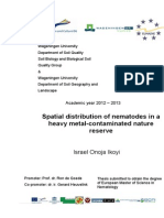 Spatial Distribution of Nematodes in a Heavy Metal Contamibated Nature Reserve Thesis 2013