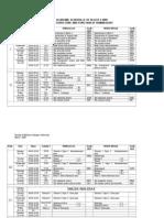 Blok 4 2009-Schedule