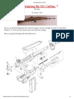 Fieldstrippimg the M1 Carbine A GOOD MANUAL
