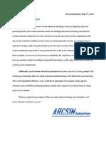 arcsin industries newsletter