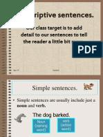 Descriptive Sentences