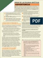 Web Sling Safety Bulletin Spanish