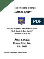 Cardacu Daniel Investigación Sobre El Tango Cambalache