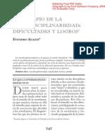 Agazzi, E. (2004). El Desafio de La Interdisciplinariedad