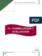 4.0.-Formulacion y Evaluacion