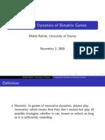 Innovative Dynamics of Bimatrix Games
