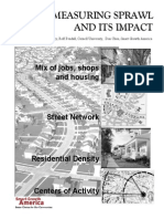 Measuring Sprawl and Its Impact