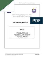 Pk 03 Pengurusan Pembelajaran & Pengajaran (Pdp)