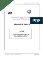 Pk 12 Pengurusan Maklum Balas Pelanggan