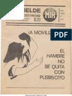 El Rebelde 249 Marzo 1988