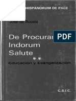 Procuranda Indorum Salute José de Acosta Libro completo