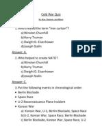 cold war questions