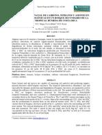 Distribución espacial de carbono, nitratos y amonio en estructuras biogénicas en un bosque secundario