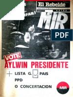 El Rebelde 262 Noviembre 1989