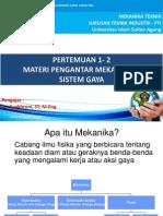1 Sistem Gaya