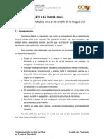 Bloque II. Tema 7. Estrategias Para El Desarrollo de La Lengua Oral(1)