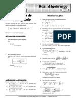 Álgebra(teoria y practica) ELITE X  10  Ecuac 2° grado