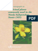 WHO Monograph on Selected Plants Use in NIS,