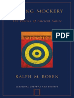Ralph Rosen-Making Mockery_ the Poetics of Ancient Satire (Classical Culture and Society) (2007)