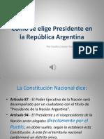 Cómo se elige Presidente en la República Argentina.pptx
