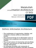 Information Architecture:Pertemuan-1