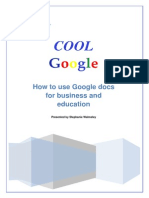 Cool Google How to use Google docs for business and education _ Presented by Stephanie Walmsley