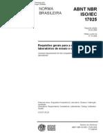 NBR ISO IEC 17025 2005