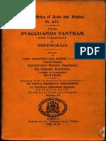 The Svacchanda Tantram Vol. VI - Madhusudan Kaul