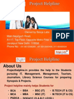 AMITY MCA Synopsis and Projects Presentation