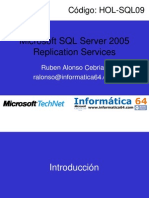 Replicacion SQL Server 2005