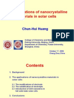 The Application of Nanocrystalline Materials in Solar Cells