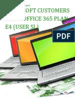 Microsoft Customers using Office 365 Plan E4 (User SL) - Sales Intelligence™ Report
