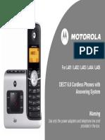 Motorola Cordless Phone -UserGuide-EnGLISH