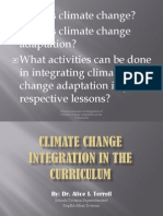 Climate Change Integration in the Curriculum