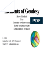 Elements of Geodesy