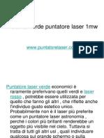 Potente Verde Puntatore Laser 1mw