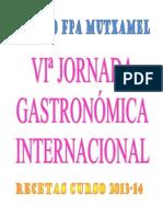 Recetas Jornada Gastronomica Internacional 2013-14