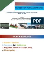 Kebijakan Mineral Dan Batubara 2011
