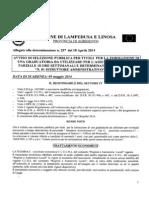 Avviso Di Selezione e Schema Di Domanda n. 01 Istruttore Amministrativo Cat. c