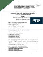 Tematica Pentru Examenul de Licenta