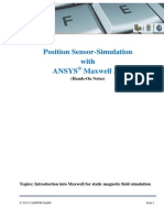 HANDS on Position Sensor Introduction to ANSYS Maxwell PRACE 2013