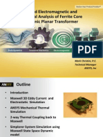 2012 Apec 135 Coupled Electromagnetic and Thermal Analysis Ferrite Core Electronic Planar Transforme