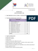 Raport Final Program