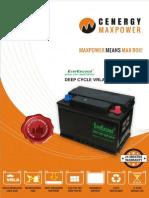 Cenergy Deep Cycle VRLA Gel Battery - An overview