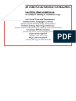 Foundation Stage Parents Curriculum Evening Information(1)