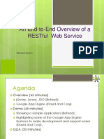An End-To-End Overview of a RESTful Web Service