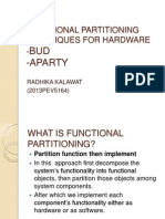 Functional Partitioning Techniques for Hardware